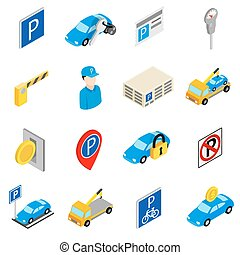 Parking set icons