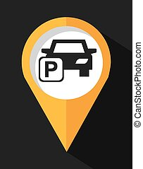 parking sign design, vector illustration eps10 graphic
