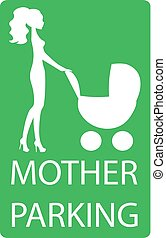parking sign for women with children,