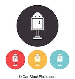 parking sign icon