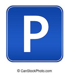 Parking sign - Illustration of cars parking sign