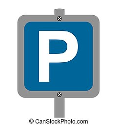 parking sign isolated icon