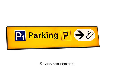parking sign - parking singn isolated on white
