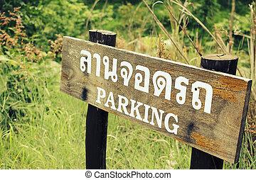 Parking Sign Thailand