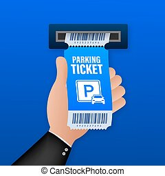 Parking tickets, great design for any purposes. Parking zone...