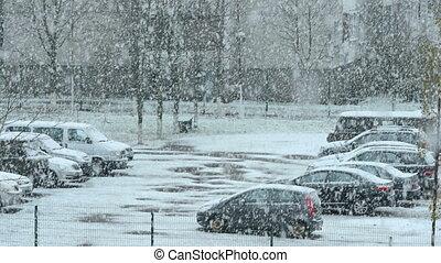 Parking under snow
