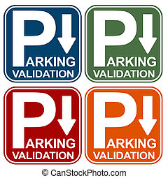 Parking Validation Sign