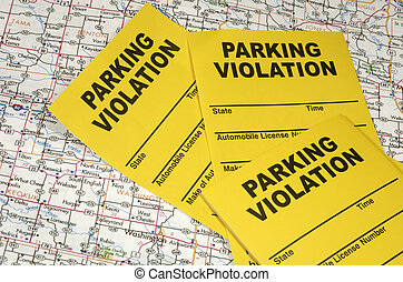 Parking Violation - Photo of a Map and Parking Violation...