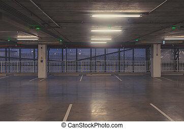 parking, voiture