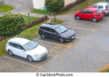 Parking with different cars