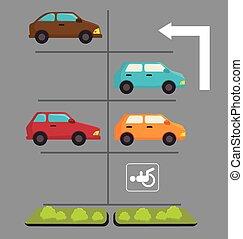 Parking zone design.
