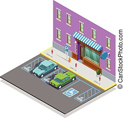 Parking Zone Isometric Template