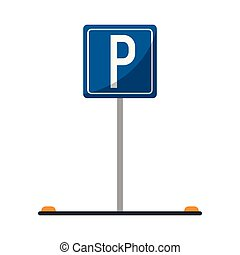 Parking zone road sign