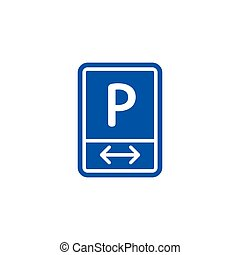 Parking zone roadsign isolated on white background
