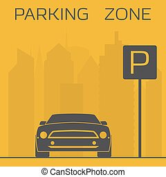 Parking zone sign