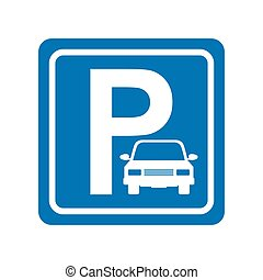 parking zone sign isolated icon