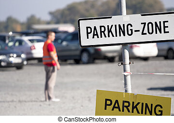 Parking zone - at outdoor fair venue