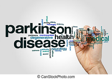 Parkinson disease word cloud concept
