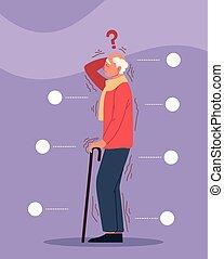 parkinson elderly man with tremor