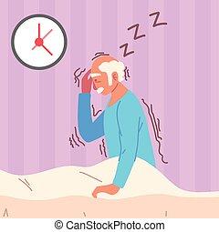 parkinson insomnia tremor old man
