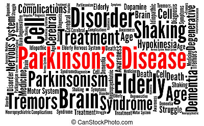 parkinson's, 概念, 単語, 病気, 雲