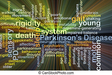 Parkinson's disease background concept glowing