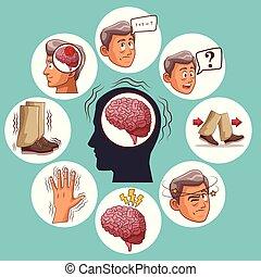 Parkinsons disease cartoon icon vector illustration graphic...