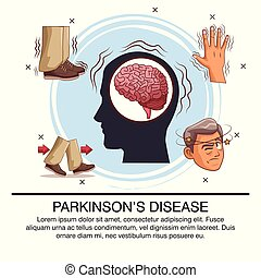 Parkinsons disease infographic icon vector illustration...