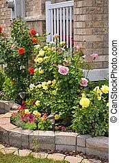 parkosít, megkövez kert