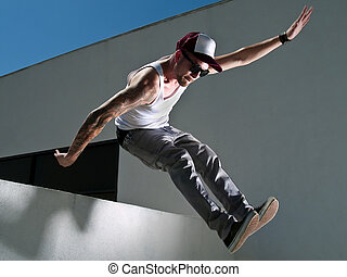 Parkour Freerunner - parkour freerunner with a tattoo...