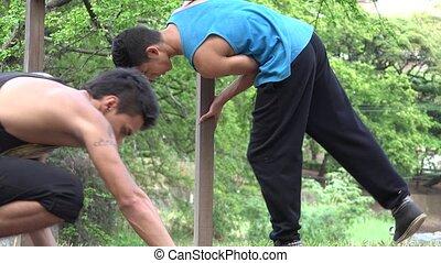Parkour Stunts Strength And Balance