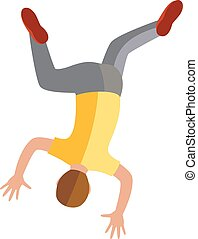 Parkour trick people extreme sport cartoon vector silhouette.