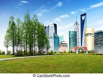 Parks and modern architecture