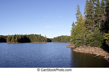 A shot of Parkside bay in Algonquin Provincial Park in Ontario, Canada.