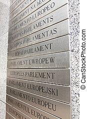 parlament, europaen, tafel