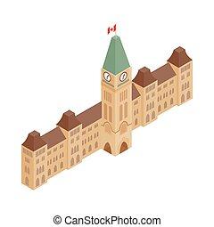 parlament gebäude, ottawa, ikone