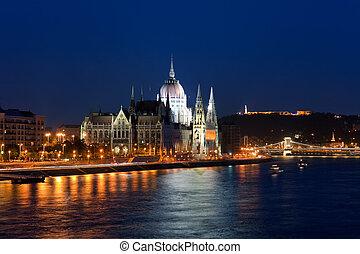 parlament, hala, w, budapeszt, węgry
