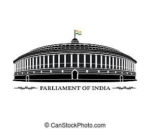 parlament, od, indie