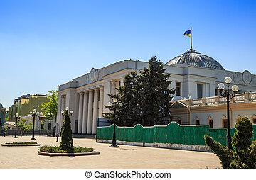 parlament, ukrainien, kiev, bâtiment.
