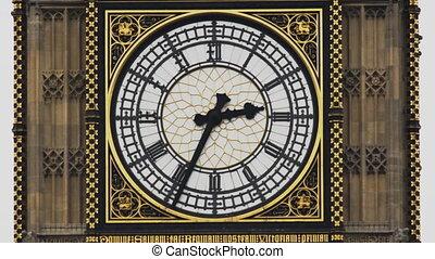 parlament, zegarowa twarz, cielna, do góry, brytyjski, gmach...