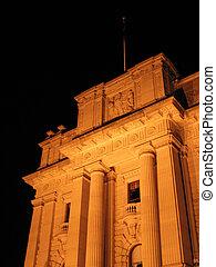 parlamento, australia, edificio, melbourne