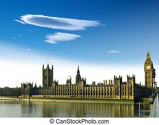 parlamento,  Ben, casa, grande, Rio,  thames