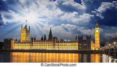 parlamento,  Ben,  la, casa,  thames, grande, internacional, Rio