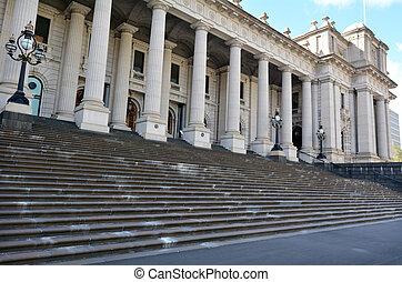 parlamento, casa, -, melbourne