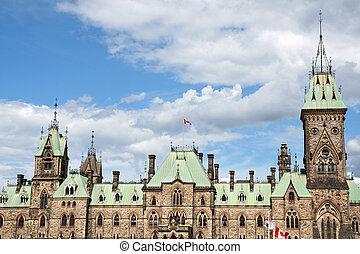 parlamento, de, canadá