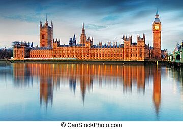 parlamento, grande, -, inghilterra, case, regno unito, ben