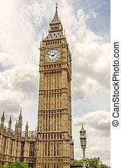 parlamento, grande, londres, ben, casas