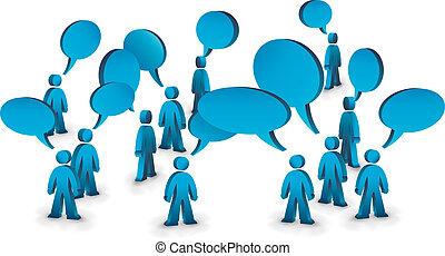 parlare, persone