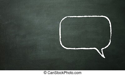 parlare, quadrato, stile, icona