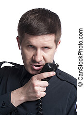 parlare, telefono, vigilare ufficiale, cb